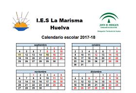 Calendario Escolar Huelva.Calendario Escolar 2017
